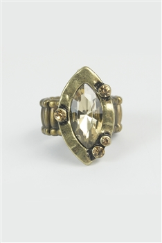 Crystal Metal Rings R1284