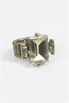Square Crystal Rings R1285