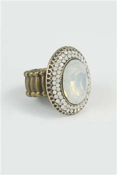 Large Crystal Encrusted Stretch Ring R1339