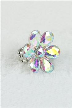 Crystal Flower Rings R1340