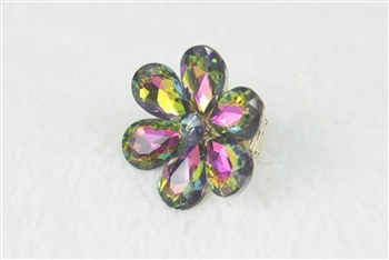 Crystal Flower Rings R1340 - Multi