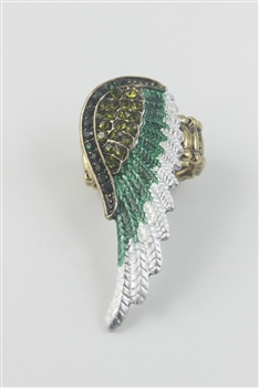 Color Wing Rings R1344 - Green