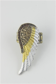 Color Wing Rings R1344 - Yellow