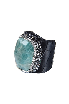 New Fashion Snake Leatherette Stone Rings R1385