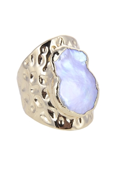 Fashion Mother of Pearl Metal Rings R1426