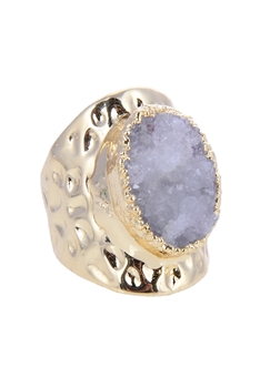 Fashion Druzy Stone Metal Rings  R1427
