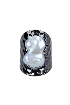 Mother of Pearl Metal Statement Rings R1435