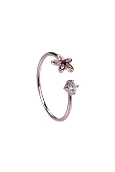 Fashion Delicate Women Crystal Metal Rings R1472