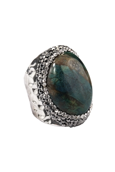Chrysanthemum Stone Cuff Rings R1499