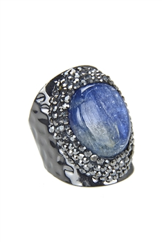 Kyanite Metal Cuff Rings R1502
