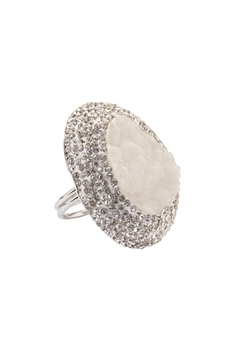 Druzy Crystal Ajustable Rings R1523