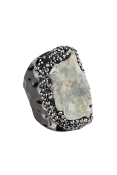 Kyanite Metal Cuff Rings R1537