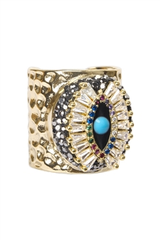 Devil's eye Metal Rings R1560