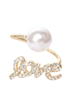 Love and Pearl Adjustable Ring R1567