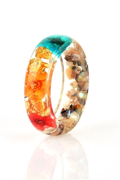 Dried Flower Resin Ring R1574 - NO.1/18MM