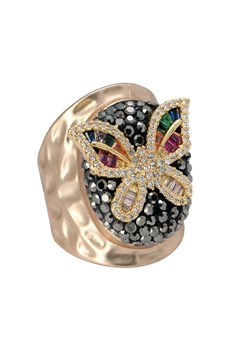 Zircon Butterfly Rings R1617