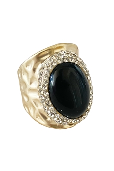 Onyx Stone Alloy Rings R1680