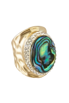 Mother Of Pearl Alloy Rings R1681