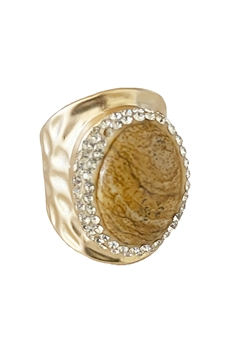Picture Jasper Alloy Rings R1683