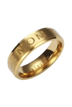 Mom Stainless Steel Ring R1718-GD