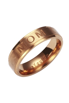 Mom Stainless Steel Ring R1718-RG