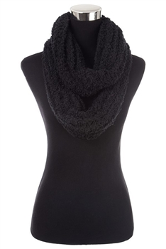 Faux Fur Scarf SFX363 - Black