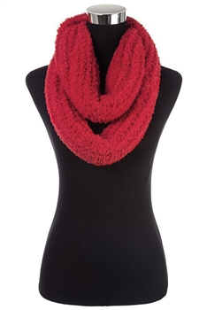 Faux Fur Scarf SFX363 - Red