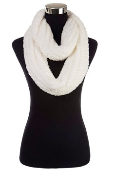 Faux Fur Scarf SFX363 - White