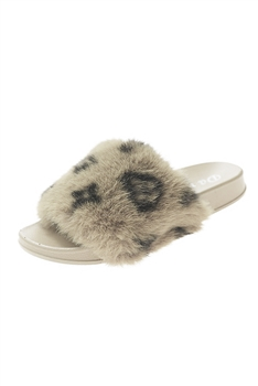 Leopard Print Plush Slippers SH0018