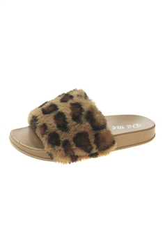 Leopard Print Plush Slippers SH0019
