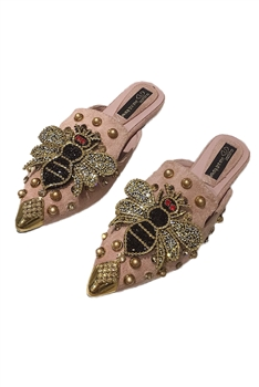 Rhinestone Bee Slippers Sandals SH0021-PK