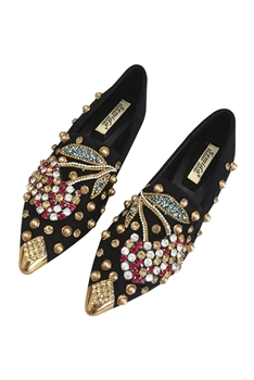 Rhinestone Cherry Slippers Sandals SH0028