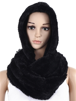 Fur Infinity With Hood SXX-221 - Black