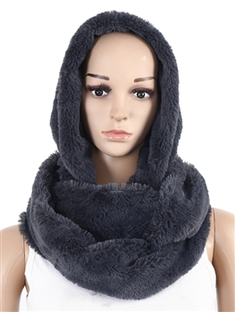 Fur Infinity With Hood SXX-221 - Grey