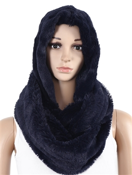 Fur Infinity With Hood SXX-221 - Navy