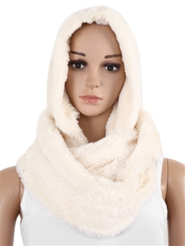 Fur Infinity With Hood SXX-221 - White