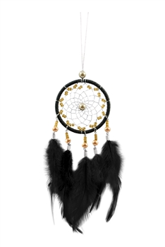 Handmade Dream Catcher Feather W1280 - Black