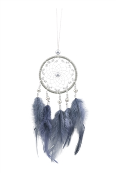 Handmade Dream Catcher Feather W1280 - Grey