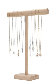 Crude Wood T-bar Bracelet / Necklaces Display W1292