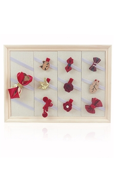 Wooden  Hair Clips  Jewelry Display W1335