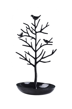 Vintage Bird Tree Jewelry Display W1344 - Black