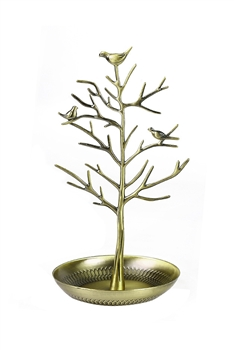 Vintage Bird Tree Jewelry Display W1344 - Bronze
