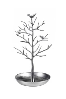 Vintage Bird Tree Jewelry Display W1344 - Silver