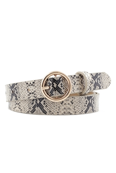 Animal Printed Pu Leather Belt WA0066 - Beige