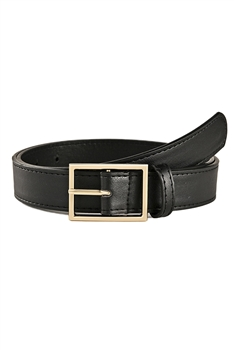 Snakeskin Printed Pu Leather Belt WA0067 - Black