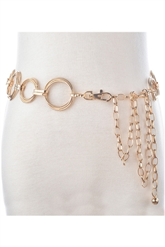 Alloy Tassel Waist Chains WA0072 - Gold