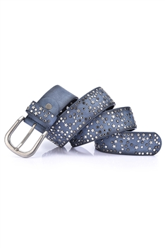 Rivet Pu Leather Belt WA0073 - Blue