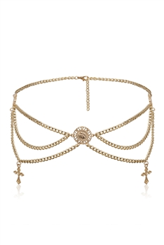 Alloy Waist Chains WA0076 - Gold