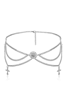 Alloy Waist Chains WA0076 - Silver