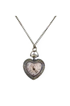 Heart Watch Necklace WH0004